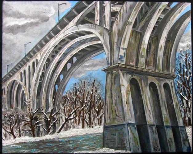 Cleveland Bridge in Winter