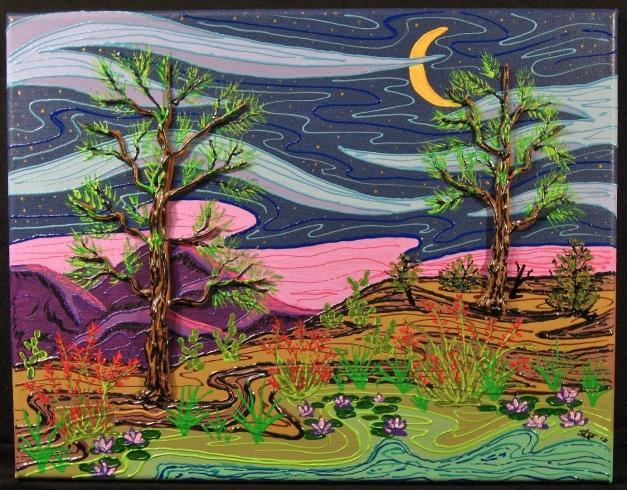 Wilderness night scene