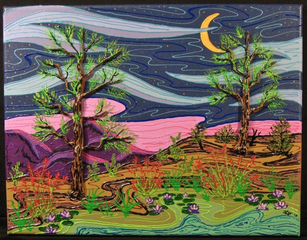Wilderness night scene