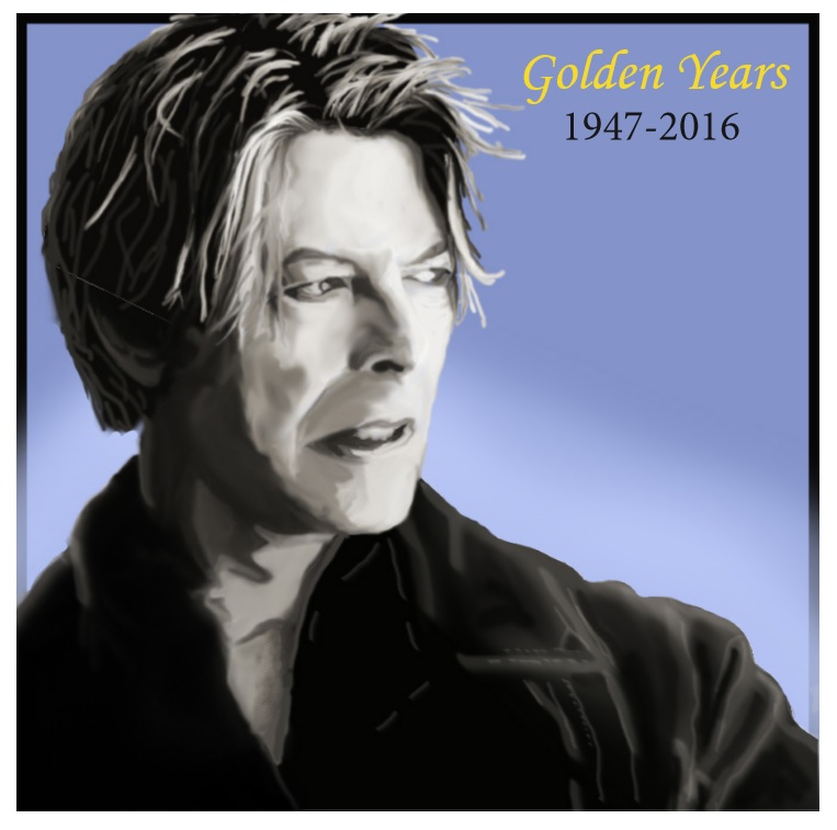 In honor of David Bowie - Photoshop and InDesign
