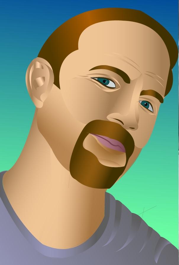 Self portrait in Illustrator