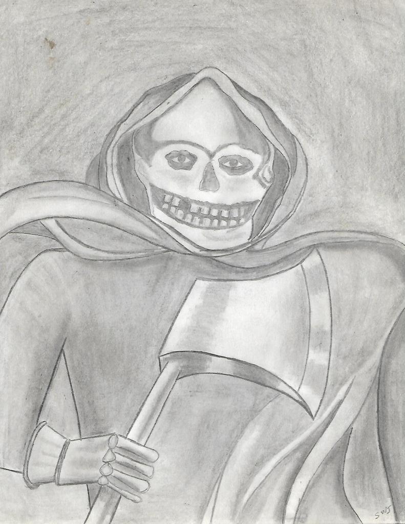 Grim Reaper Album Cover Pencil Welcome To Stevez Artcom